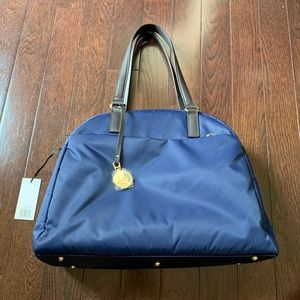 Lo & Sons OMG bag / navy blue with lavender